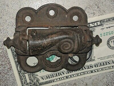 Antique Ornate Cast Iron Victorian Spring Loaded Screen Door Hinge