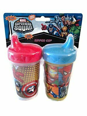 (Set of 2) Marvel Super Hero Squad 10oz Sipper Sippy Cups