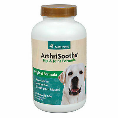 NaturVet ArthriSoothe Hip & Joint Formula 500 Chewable Tabs  Exp-7/21 -WW Ship