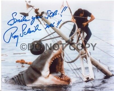 Roy Scheider Rare Quoted Jaws Autographed Signed Reprint