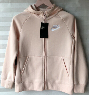 "Nike Sportswear Girls Hooded Jacket BV2712-682 Pink Size M Chest 32"" New"