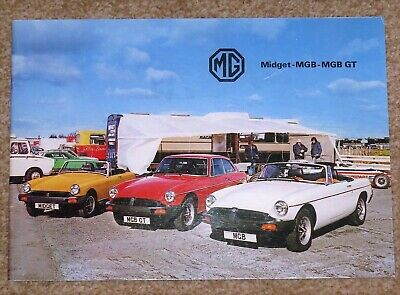 1980 MG RANGE Sales Brochure - MGB GT, MGB, Midget 1500 - Excellent Condition!