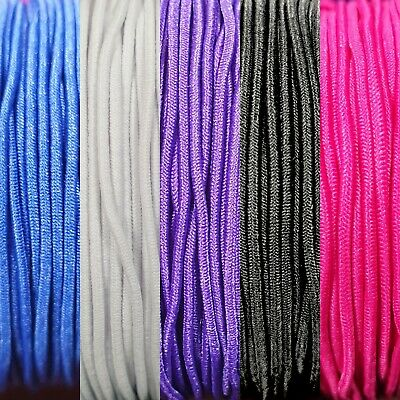5m (Metres) 1mm Round Cord Elastic For Crafts Beads Beading Masks Hats Jewellery