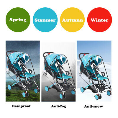 Baby Stroller Waterproof Rain Cover Wind Dust Shield Carrier Raincover