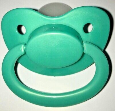 Adult Baby Pacifier Nuk Size 6 Dummy Soother AB/DL Pearl Teal