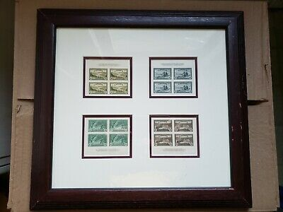 Canada 1946 Peace Issue Scott Block Stamps 10/14/20/50 CENTS - 4 FRAMED SETS