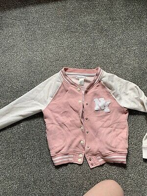 L.O.G.G Girls Pink And White Jacket Age 10-12