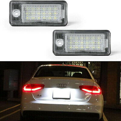 2Pcs For Audi A3 8P 2004-2012 Xenon LED License Number Plate Light Lamp New