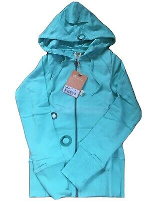 Roxy Ladiea Mint Zip Hoodie Sweatshirt Size XS UK 6 Colour Loss Read Description