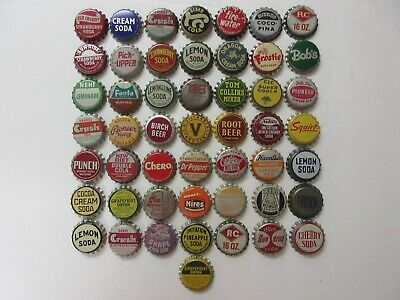 50= Old Soda Bottle Caps=Cork Lined==Nice Condition=Never Used=