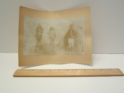 LOWERED !!!     Original Photograph of the Apache Kid & Scouts - Rare !