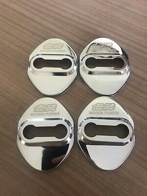 Honda Mugen Door Lock Cover Silver 4pcs