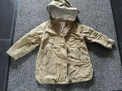 A Girls Next Khaki Green Parka Coat Size 6 Years
