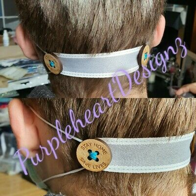 Headband straps with buttons for face mask -ear saver for nurses EAR HEROES