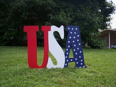 PATRIOTIC USA Letters *4th of July* Yard  Art
