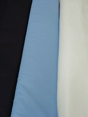 """Navy Craft/dress polycotton fabric 90""""/ 230 cms wide use for Crafts,PPE etc"""