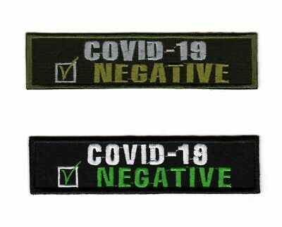 19 Negative Pandemic 2020 Tactical Army Morale Patch Biker Motorcycle Corona