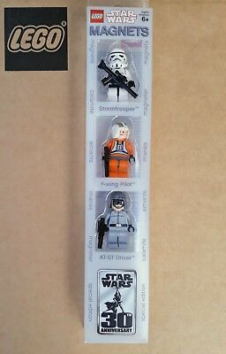 Aimants Lego Star Wars  3 personnages - Stormtrooper - Pilot - Driver - Magnets
