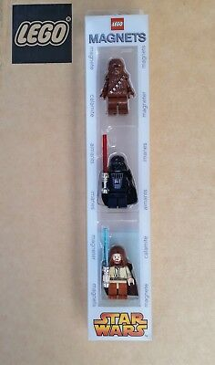 Aimants Lego Star Wars - 3 personnages - Magnets chewbacca - dark vador- obi wan