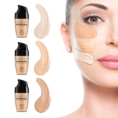 30ml Waterproof Full Coverage Liquid Concealer Face Brightening Foundation Cream