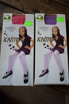 New Girls Tights Boundle Natural Sources Yarns Size 92-98 cm