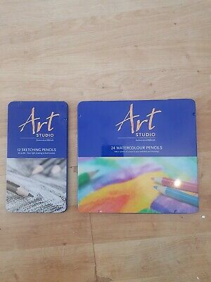 WHSmith Art Studio Watercolour Pre-sharpened Pencils Ready To Use Pack of 24
