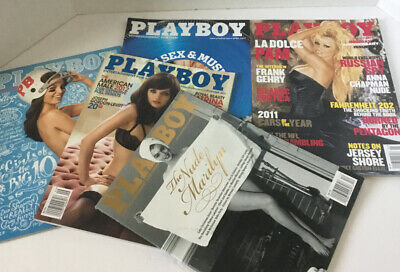 Playboy Magazine LOT 5 Issues With The Nude Marilyn Monroe 2011-2013 New!