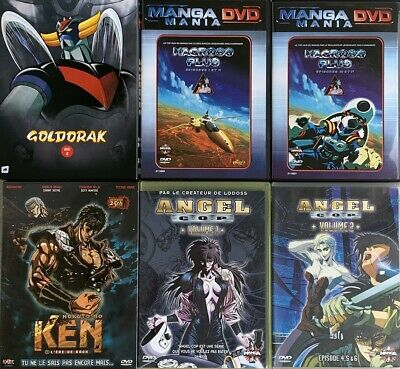 Lot 6 Dvd MANGA Macross, Ken, Goldorak, Angel Cop