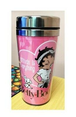 """Betty Boop Collectible """"Attitude Is Everything"""" Thermos Travel Mug Licensed New"""