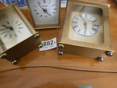 CLOCKS CARRIAGE x 3 Wesselton London Clock Co. handles feet knobs spares mantle