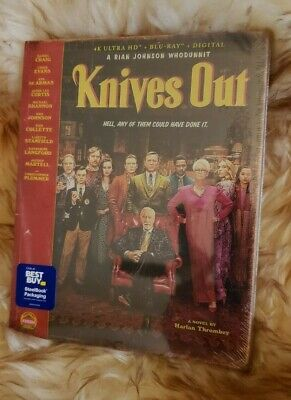Best Buy Exclusive Knives Out 4k Blu Ray Slipcover Steelbook Set New and Sealed!