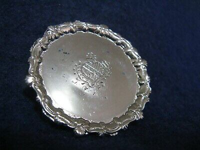 Eugene Kupjack Sterling Silver Dollhouse Miniature.....round Footed Tray #305