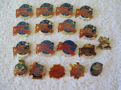 Planet Hollywood Pins - Lot Of 18 - New