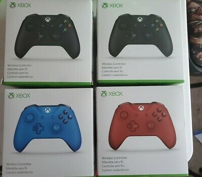 EMPTY BOXES W/ MOLD & PAPERWORK - 4 XBOX ONE Controllers- 2 Black, Red, Blue LOT