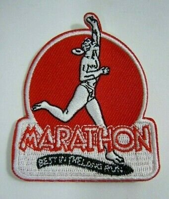 MARATHON GASOLINE Embroidered Iron On Uniform-Jacket Patch 2.25""