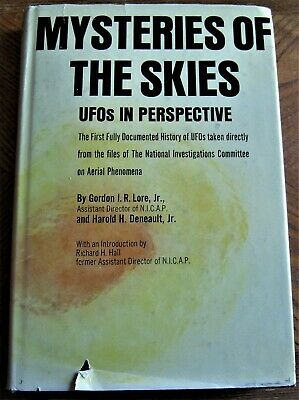 1968 UFO book MYSTERIES OF THE SKIES:UFOs IN PERSPECTIVE by Lore & Denault