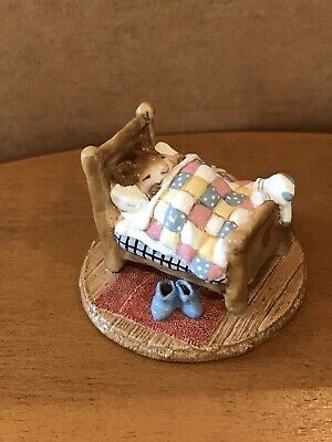 Wee Forest Folk M-136a Tuckered Out 1986 Annette Petersen. RETIRED