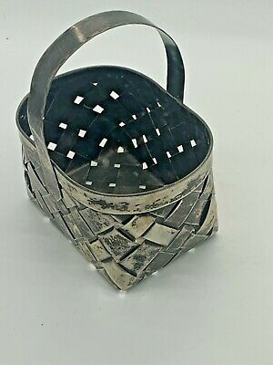 """Strawberry by Cartier Sterling Silver Basket Handmade 2.5"""" X 3.5"""" X 4.5"""" Tall"""