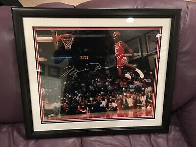 Michael Jordan signed 16 X 20 photo 1988 Slam Dunk Contest Upper Deck  Authentic