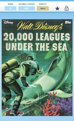 Topps Disney Collect - 20,000 Leagues Under The Sea - Complere w/Award *Digital*