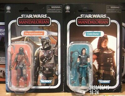 Star Wars VC166 The MANDALORIAN VC164 Cara Dune Vintage Collection 3.75 NEW dmg