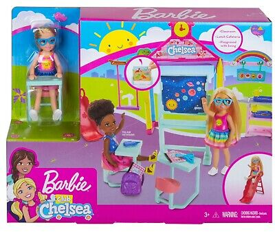 Barbie Club CHELSEA Doll with School And Playground Playset NEW
