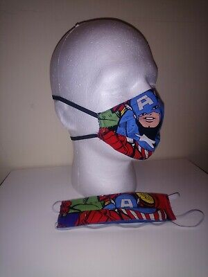 1x Kids Avengers Captain America face mask with pm2.5 filter