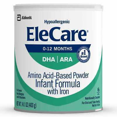 3 Cans of 14.1oz EleCare For Infants Hypoallergenic Powder with DHA/ARA!