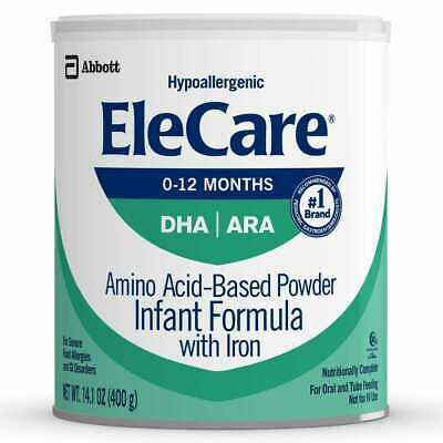 1 Can of 14.1oz EleCare For Infants Hypoallergenic Powder with DHA/ARA!