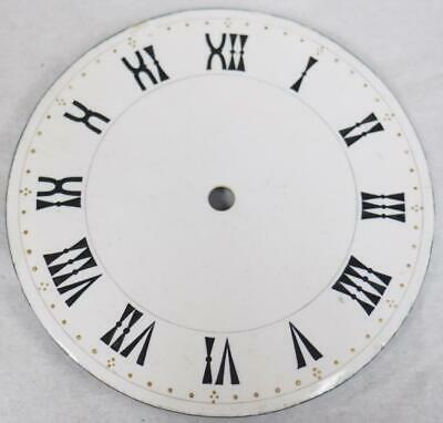 Antique French Enamelled Mantel clock Dial Clock Spare Timepiece Dial 9cm
