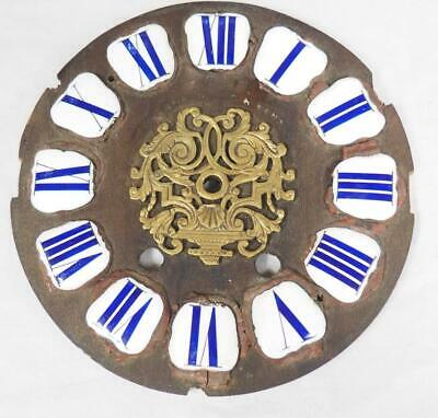 Antique French Enamelled Boulle clock Dial Clock Spare Cartouche Numerals 14cm