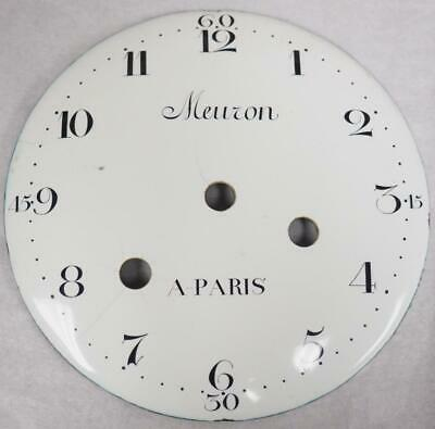 Antique French Enamelled Mantel clock Dial Clock Spare Convex Alarm Dial 13cm
