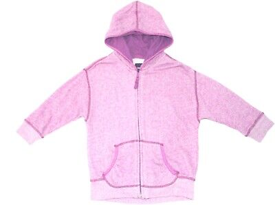 Gap Kids Girls Sz L 10 Orchid Purple Heathered Hoodie 3/4 Sleeve