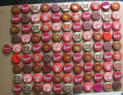 100 Shades Of Red Themed Beer Bottle Caps